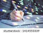 multi exposure of woman's... | Shutterstock . vector #1414553339