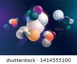 multicolored decorative balls.... | Shutterstock .eps vector #1414555100