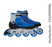 pair of roller skates isolated... | Shutterstock .eps vector #1414559096