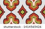 ikat geometric folklore... | Shutterstock .eps vector #1414565426