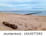 pier on the beach of usedom  ... | Shutterstock . vector #1414577393