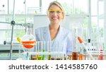 attractive young scientist... | Shutterstock . vector #1414585760