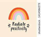 radiate positivity stylized...   Shutterstock .eps vector #1414586573