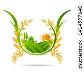 farm icon concept logo full... | Shutterstock .eps vector #1414597640