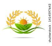 farm icon concept logo full... | Shutterstock .eps vector #1414597643