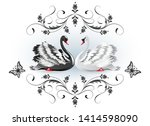 Decorative Card With Black And...