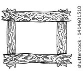 wooden sketch frame. vector... | Shutterstock .eps vector #1414601510