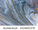 blue marbling pattern. golden... | Shutterstock . vector #1414601570