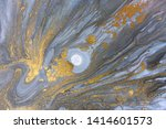 blue marbling pattern. golden... | Shutterstock . vector #1414601573