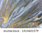 blue marbling pattern. golden... | Shutterstock . vector #1414601579