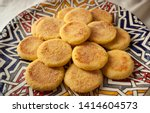 Stock photo harsha is a moroccan pan fried bread made from semolina although it looks a bit like an english 1414604573