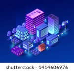 isometric ultra city concept of ... | Shutterstock .eps vector #1414606976
