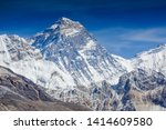 view of top of mount everest... | Shutterstock . vector #1414609580