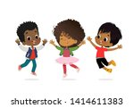 african american boys and girls ... | Shutterstock .eps vector #1414611383