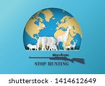 concept of stop hunting animal... | Shutterstock .eps vector #1414612649