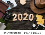 top view 2020 happy new year... | Shutterstock . vector #1414615133