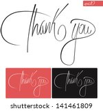 thank you typography vector set | Shutterstock .eps vector #141461809