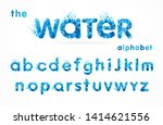 water drops font  funny blue...