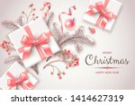 banner with christmas symbols...   Shutterstock .eps vector #1414627319