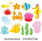 sea animals | Shutterstock .eps vector #141462766
