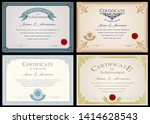 set of certificate or diploma...   Shutterstock .eps vector #1414628543