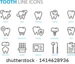 Set Of Tooth Icons  Such As...