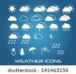 set of weather icons for web... | Shutterstock .eps vector #141463156