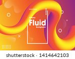 colorful 3d flow shape. liquid... | Shutterstock .eps vector #1414642103