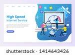 high speed internet service... | Shutterstock .eps vector #1414643426