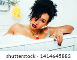young pretty african american...   Shutterstock . vector #1414645883