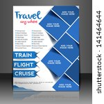 vector travel center brochure ... | Shutterstock .eps vector #141464644