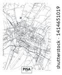 city map pisa  travel vector... | Shutterstock .eps vector #1414651019