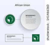 african union flag set of...