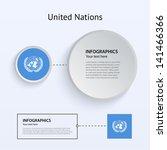 united nations flag set of...