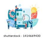 vector illustration online... | Shutterstock .eps vector #1414669430
