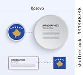 kosovo country set of banners...