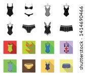 vector illustration of bikini...   Shutterstock .eps vector #1414690466
