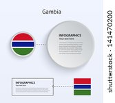 gambia country set of banners...