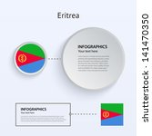 eritrea country set of banners...