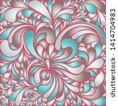 silk texture fluid shapes ...   Shutterstock .eps vector #1414704983