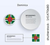 dominica country set of banners ...