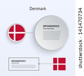 denmark country set of banners...