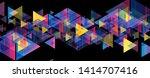 colorful neon retro triangles...   Shutterstock .eps vector #1414707416