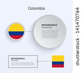 colombia country set of banners ...