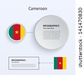 cameroon country set of banners ...