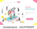 flat isometric vector landing... | Shutterstock .eps vector #1414709699