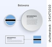 botswana country set of banners ...