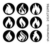 fire flame icon vector symbol   Shutterstock .eps vector #1414710986