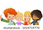 group of friends taking a... | Shutterstock .eps vector #1414719770
