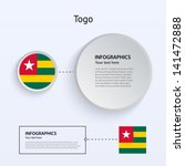 togo country set of banners on...
